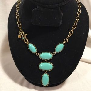 Boho Bronze turquoise statement necklace